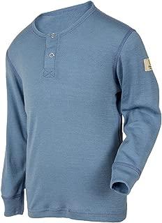 100% Merino Wool Kids Boy's Girl's T-Shirt Long Sleeve Machine Washable. Made in Norway.