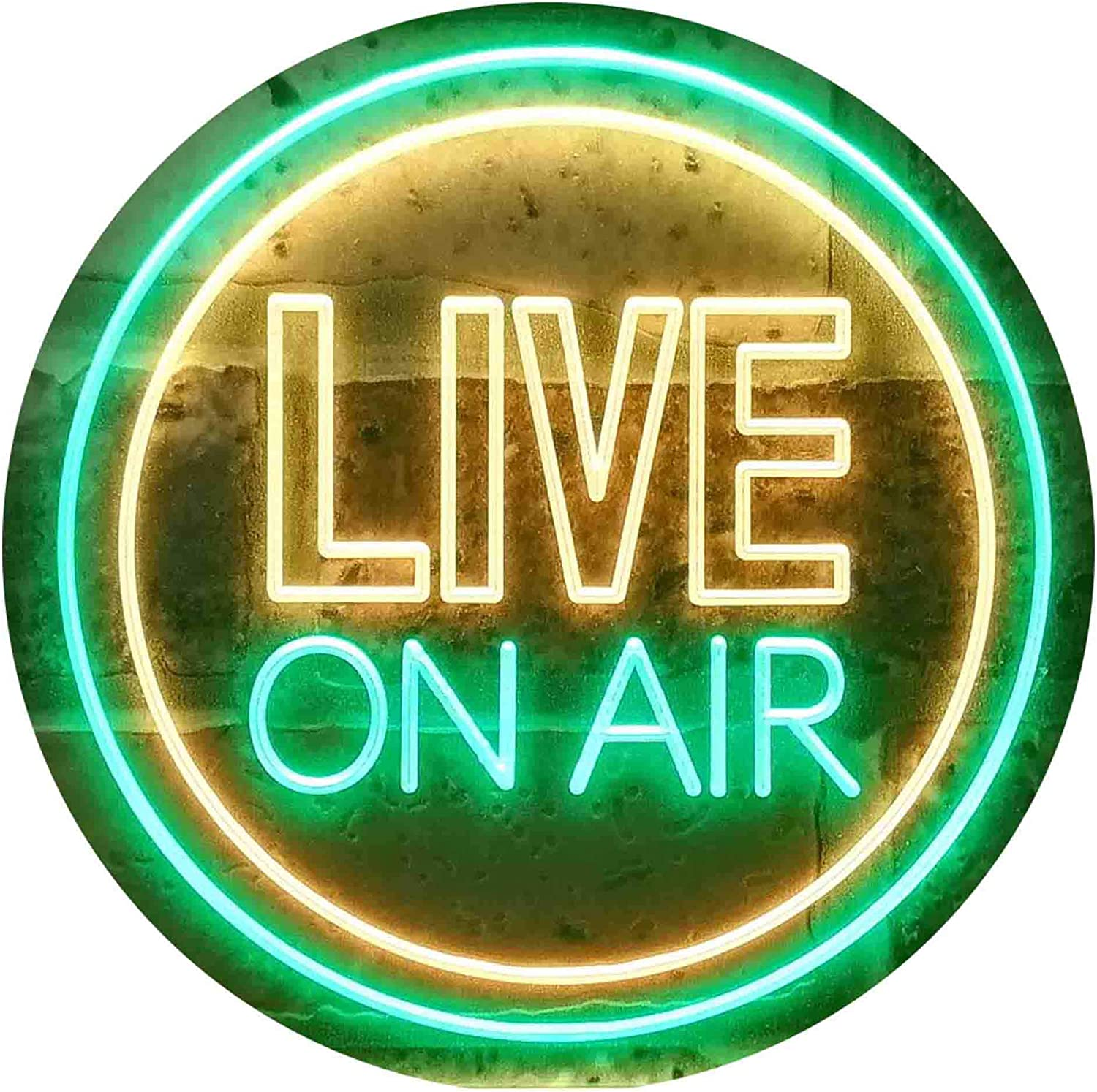 ADVPRO Live On Limited price sale Air Circle Display Neon Dual Color Green Clearance SALE Limited time LED Sign