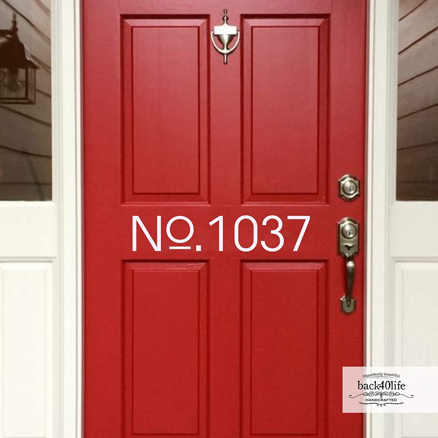 Back40life - shipfree House Number Max 66% OFF E-002f Decal Door