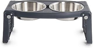منصة طعام مزدوجة للحيوانات الأليفة قابلة للتعديل بارتفاع قابل للتعديل من ديكساس بوبوير PW120432SS