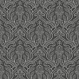 G34144 - Vintage Damasks Damask Black & White Galerie Wallpaper