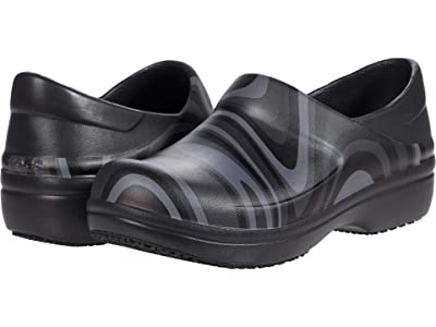 Crocs Work Neria Pro II Graphic Clog (Black/New Wave) Women