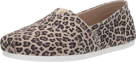 Skechers Women's Bobs Plush-Hot Spotted. Leopard Print Slip on Ballet Flat