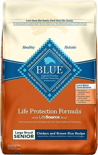 Blue Buffalo Life Protection Formula Natural Senior Large Breed Chicken and Brown Rice Dry Dog Food