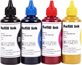 Sublimation Ink Heat Transfer Printer Ink sublijets hd Ink Compatible with Sawgrass Virtuoso sg400 sg800 sg400NA/EU sg800NA/EU use for Refillable Cartridges or CISS (Black, Cyan, Magenta, Yellow)