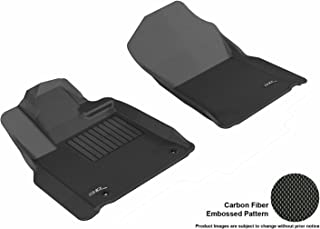 3D MAXpider Front Row Custom Fit All-Weather Floor Mat for Select Toyota Tundra Models - Kagu Rubber (Black)
