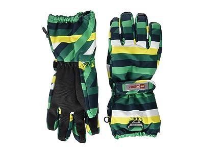 LEGO Kids Snow Gloves with Anti-Slip Grip Membrane (Little Kids/Big Kids) (Dark Green) Over-Mits Gloves