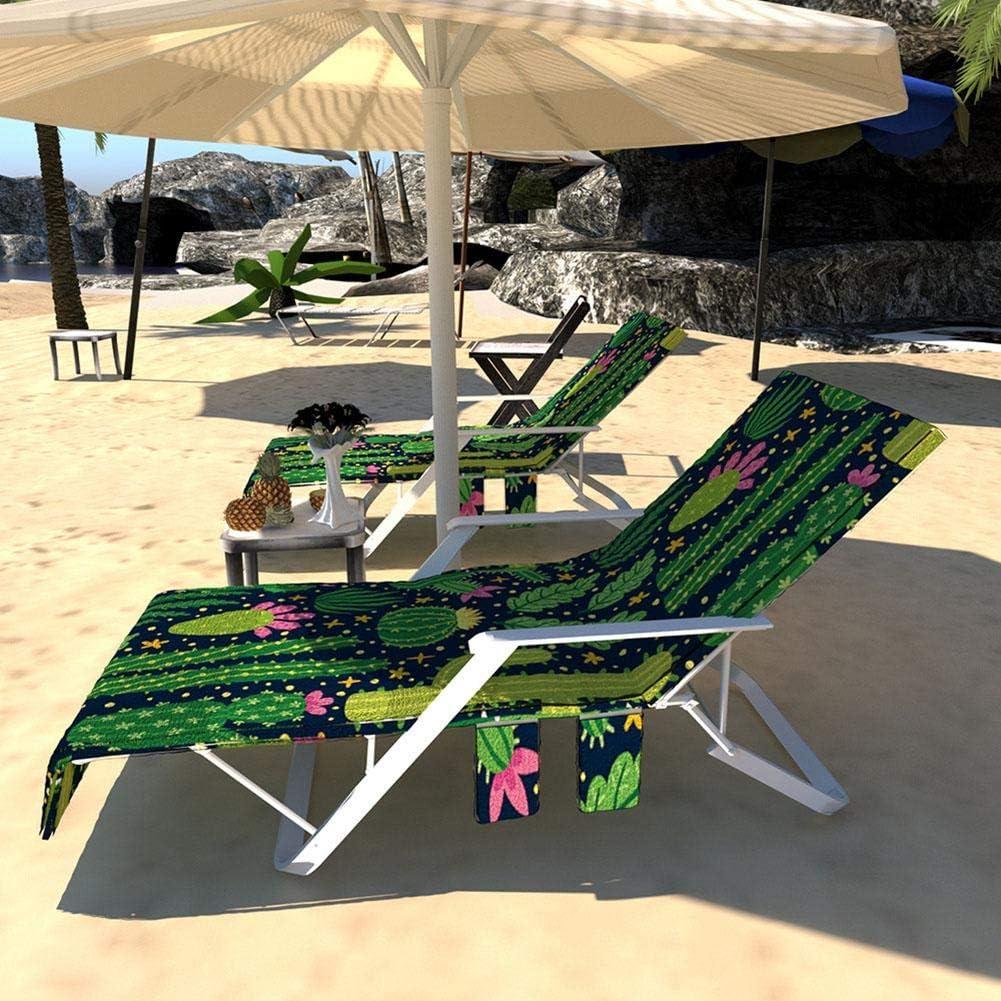 Los 75 /× 215cm Zihui Toalla De Playa con Funda De Tumbona Tumbona De Piscina para Exterior Tumbona Toalla De Cubierta De Silla De Jard/ín Reclinable Piscina De Playa para Exterior 100 Algod/ón Aprox