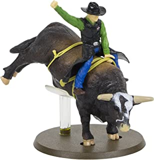 Big Country Toys PBR Bushwhacker Rodeo Bull with Rider - 1:20 Scale - Bull Riding Figurine - Bushwhacker The Bull - Collectible