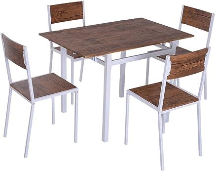 Amazon.it: tavolo allungabile legno con sedie: Casa e cucina
