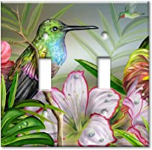 Art Plates - Hummingbird at Rest Switch Plate - Double Toggle