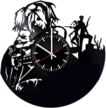 Welcome Everyday Arts Harley Quinn with Joker Vinyl Record Wall Clock - Get unique home or garage wall decor - Gift ideas for boys and girls - Superheroes Couple Design Unique Art