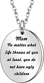 JJIA Mom Gifts Women Necklace for Mom Mother Grandmother Thanksgiving Day Birthday