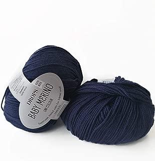 Superwash Merino Wool Yarn Drops Baby Merino, Sport Weight, 5 ply, 1.8 oz 191 Yards (13 Navy Blue)
