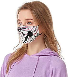 Aadiju Face Mask Printed Washable Reusable � Protection from Dust Proof Protect with Breathing Valve Face Mouth Cover Outdoor