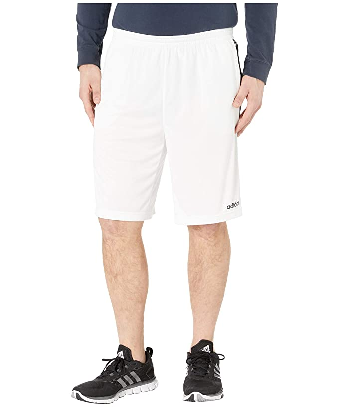 adidas Big Tall D2M 3-Stripe Shorts (White/Black) Men