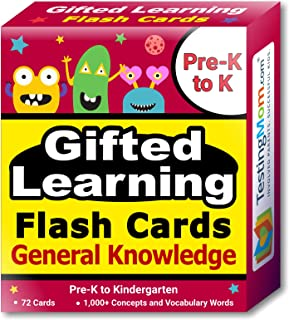 TestingMom.com Gifted Learning Flash Cards – General Knowledge Pre-K – Kindergarten – G&T Educational Practice: CogAT, OLSAT, Iowa, SCAT, WISC, ERB, WPPSI, AABL, Woodcock-Johnson, More