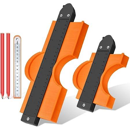 Replicatore Di Contorno, JUEMEL 250mm/12mm Contour Duplicator Gauge con Serratura, per la Misurazione del Profilo Strumento di Misura Irregolare Profile