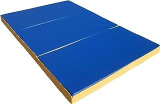NiroSport gymnastikmatta 150 x 100 x 8 cm vikbar tjock gymmatta fitness sport tumlande träning krasch landningspanel vatte...