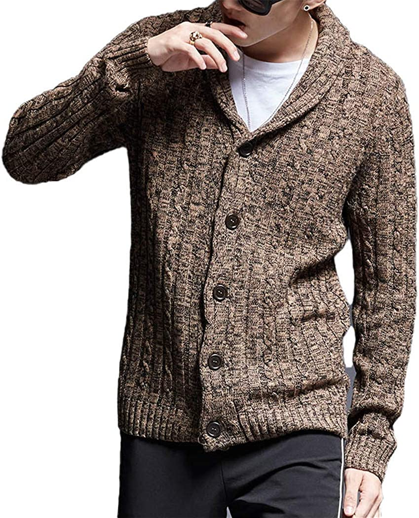 Fashion Sweater Men Sacramento Mall Cardigan Cash special price Thick Fit Knitwear Jumpers Slim Aut