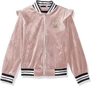 Girls' Crown Velour Bomber Jacket