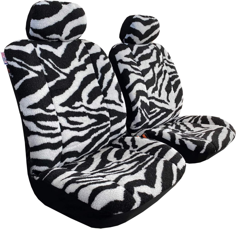 Zebra Animal Print Sheepskin Seat Covers Trucks Cars for Fr SUVs Max 82% Free Shipping New OFF