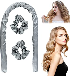 Heatless Hair Curlers, Overnight Curl Rod For Long Hair, Wave Hair Healthy No Heat Sleep Curls Headband Hair Roller Ribbo...