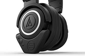Audio-Technica ATH M50x Headphones with East Brooklyn Labs Version 2 Bluetooth Wireless Adapter with Aptx and Extended Battery