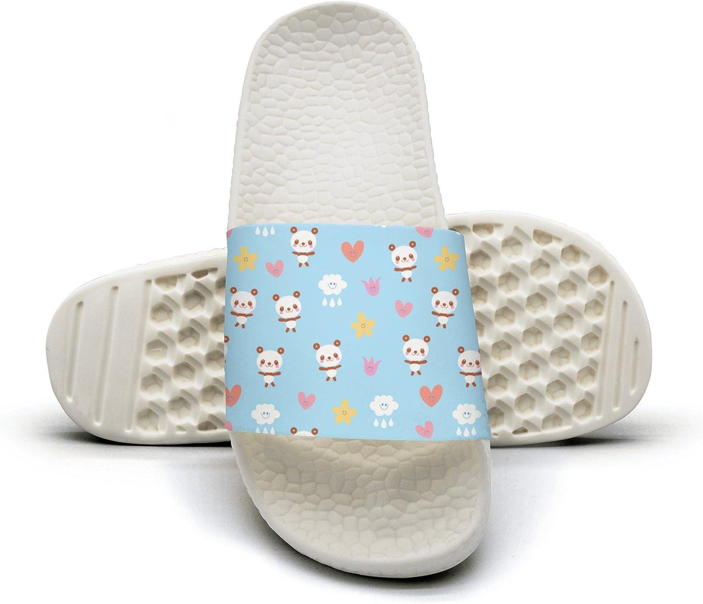 Qiopw rtw Bathroom Shower Non-Slip Sandal bluee Panda Bear Indoor Slipper shoes for Beautiful Women