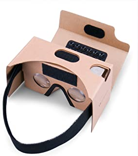 Gafas de realidad virtual Google Cardboard, 3D, realidad virtual VR, Kit con almohadilla para la nariz y diadema,Amplia compatibilidad por Android e iOS