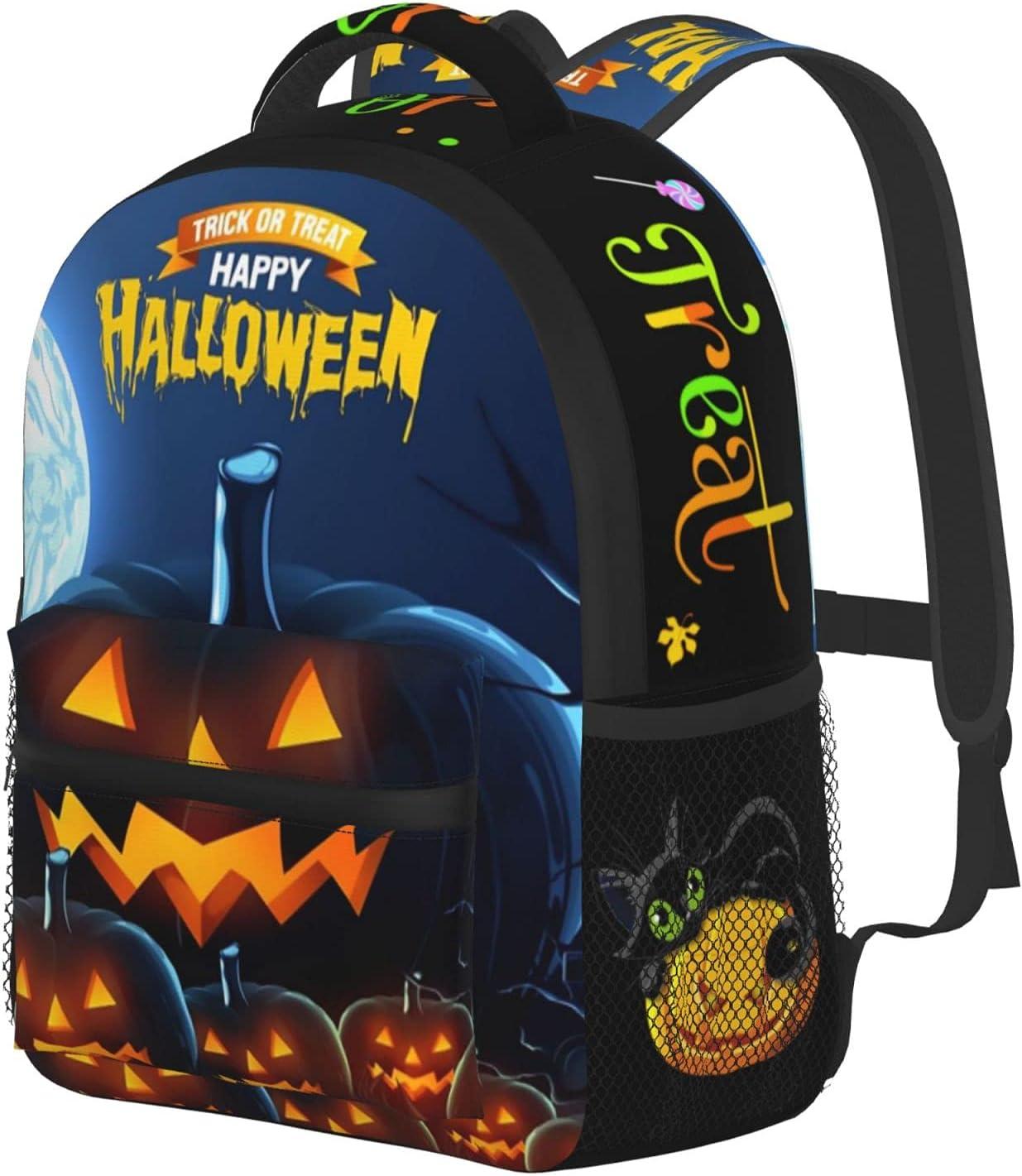 Backpacks For School 2021 Horrorhaunted Kindergarten Max 76% OFF Pumpkins Tod