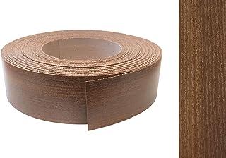 EisenRon - Cinta de melamina para rebordes con adhesivo termofusible 45 mm, 5 m, color madera nogal