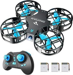 SNAPTAIN Mini Drone H823H Plus con 3 baterías para 21 Minutos de Tiempo de Vuelo, Drone RC, Mini helicóptero quadrocopter con Soporte, Modo sin Cabeza, volteos 3D y 3 Modos de Velocidad para niños