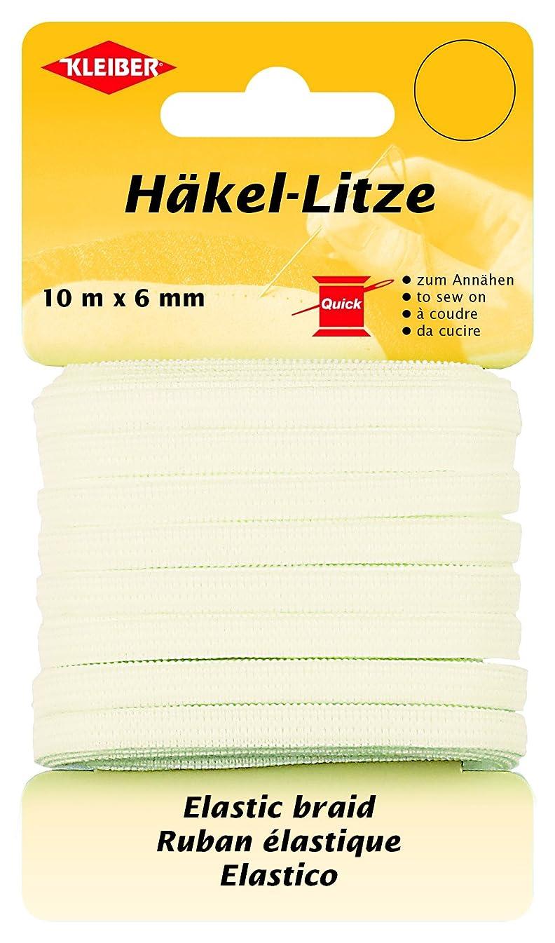 Kleiber Elastic Braid 10m x 6mm, White, Polyester Blend 14 x 8 x 2 cm