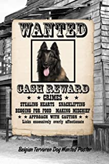 Belgian Tervuren Dog Wanted Poster: Weekly Planner Notebook 365 Daily - 52 Week Journal 120 pages 6