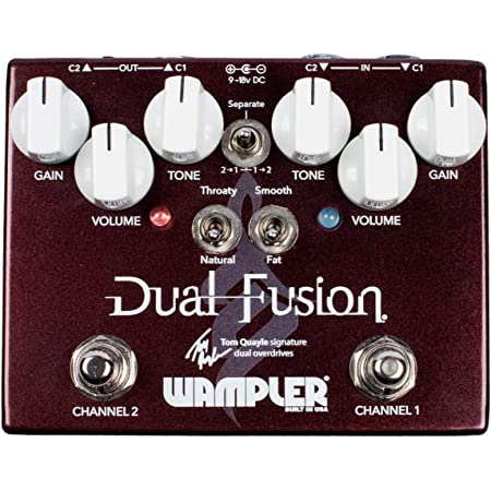 Wampler Dual Fusion V2 Tom Quayle Signature Dual Overdrive Guitar Effects Pedal