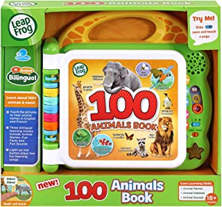LeapFrog 100 Animals Book, Baby Book with Sounds and Colours for Sensory Play, Educational Toy for Kids, Preschool Toys, B...