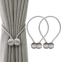 Baoblaze Lot de 2 Embrasse /à Rideaux Aimant/ée Magn/étique Rideau Corde Clips Support Beige