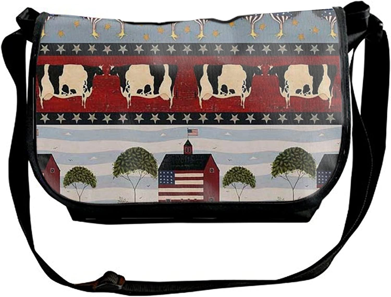Eagle And American Flag Single Shoulder Slant Sling Bag  Backpack for Women & Men