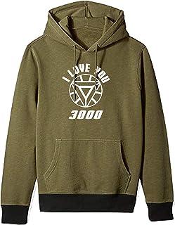 WearIndia Unisex I Love 3000 Printed Cotton Hoodies Sweatshirt for Men and Women