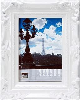 kieragrace Virginia Ornate Photo Frame, 5 by 7-Inch, White