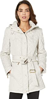 Women's Quilted Belted Trench V19703