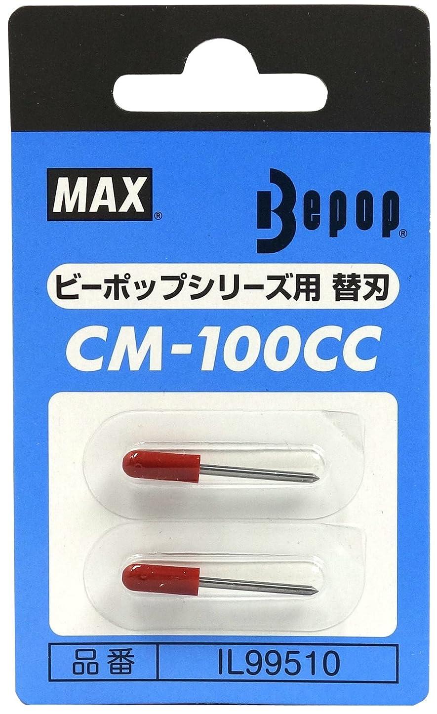 盗賊民間人素子マックス ビーポップ カッティングユニット用替刃 2本入 CM-100CCカエバ
