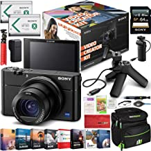 Sony Cyber-Shot RX100M3 Video Creator Kit Enhanced Bundle with Shooting Grip Tripod VCT-SGR1, 64GB Card & Extra Battery DSC-RX100M3KIT + Deco Gear Travel Case Accessory Set & Photo Video Software