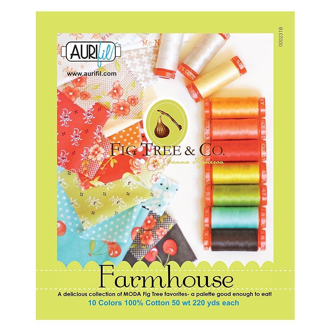 Farmhouse by Fig Tree Thread Kit 50wt 10 Small (220 yard) Spools Aurifil