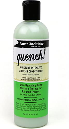 Aunt Jackie's Quench, Moisture Intensive Leave-in Conditioner, Ultra-Hydrating, Deep Moisture Therapy for Parched Hai...