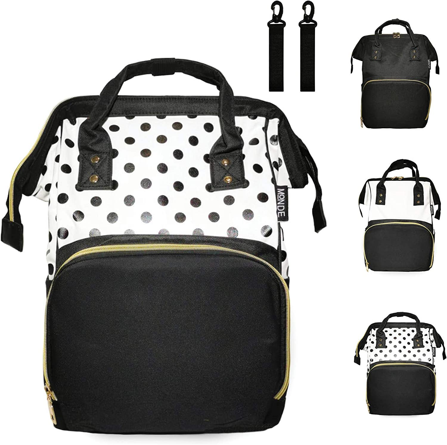 Toddler Water Resistant And Insulated Diaper Bag Backpack Boys And Girls White Multifunction Diaper Bag Backpack With Stroller Straps Best For Mom