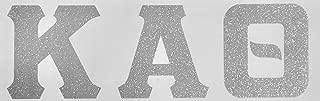 Kappa Alpha Theta Sorority Silver Glitter Letter Sticker Decal Greek 2 Inches Tall for Window Laptop Computer Car