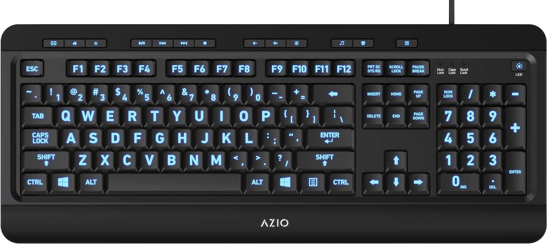 Azio Large Print Keyboard