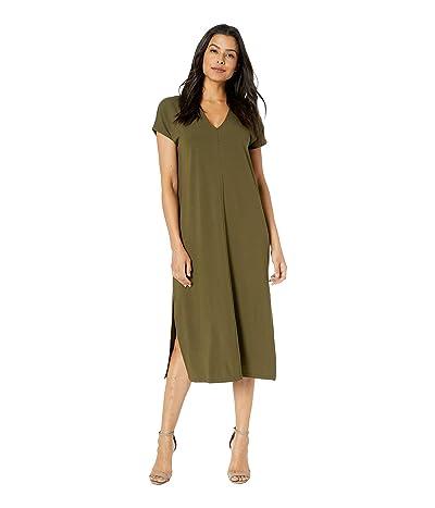 Lilla P Double V-Neck Dress (Grape Leaf) Women